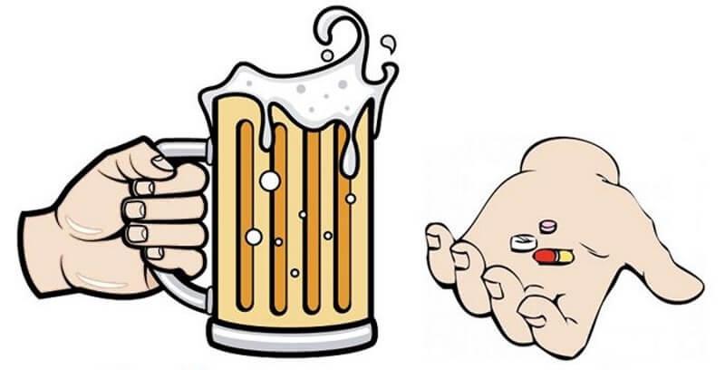 алкоголь и антибиотики